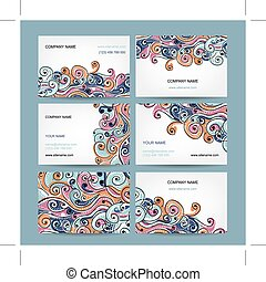 Abstract business cards collection for your design