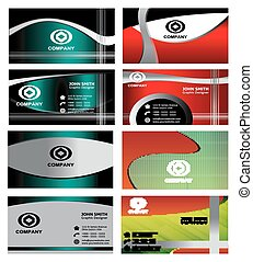 Abstract business cards set