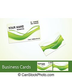 abstract business cards template
