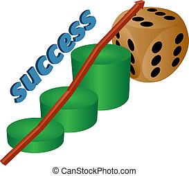 business chart of success