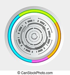 Abstract Business Circle Infographic Concept