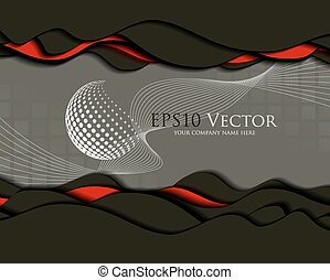 Abstract business design and cutout - Vector illustration