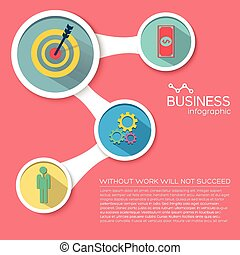 Abstract Business Flat Infographic Elements