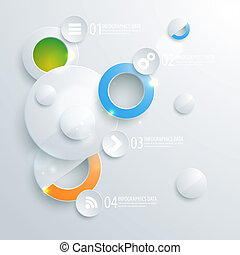 Abstract business geometrical design with paper circles