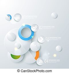 Abstract business geometrical design with circles. Vector...