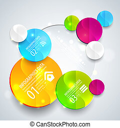 Abstract business geometrical design with paper circles. Vector illustration for your business presentation