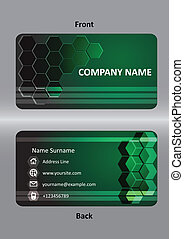 abstract  business green card template