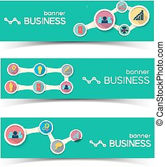 Abstract Business Horizontal Banners Set