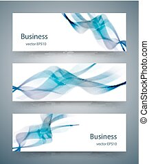 Abstract business horizontal banners