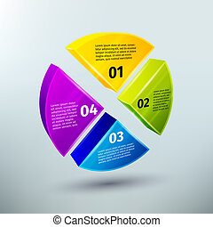 Abstract business infographics design elements