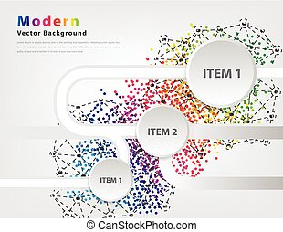 Abstract business infographics Vector - Modern Abstract...