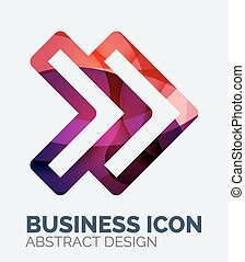 Abstract business logo, curve, flowing pieces design with...