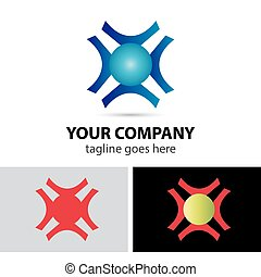 Abstract business logo design