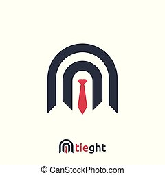 abstract Business Logo with tie sign design Template Vector illustration