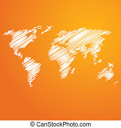 Abstract business orange background - Vector illustration