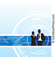 business people - abstract business people background