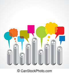 abstract business people with speec