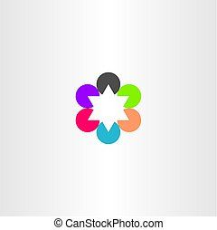 abstract business star logo icon