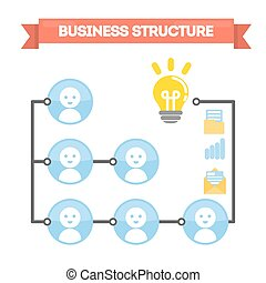 Abstract business structure.