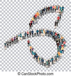 abstract business symbol people