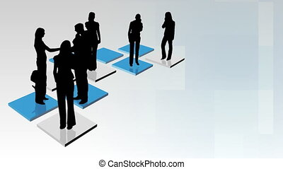 Abstract Business team Animation