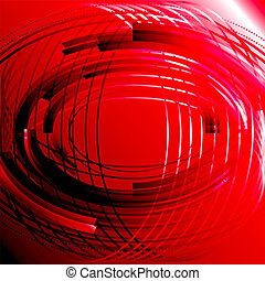 Abstract business technology red