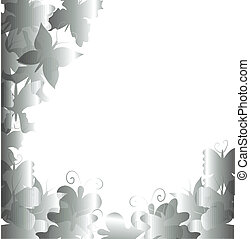 Abstract butterflies background
