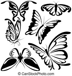 Abstract Butterflies