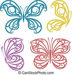 Abstract butterflies.
