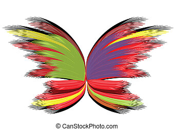 Abstract butterfly - Abstract varicolored butterfly