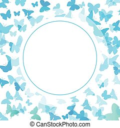 Abstract Butterfly Background. Vector illustration of blue butterflies.