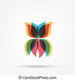 Abstract butterfly shape