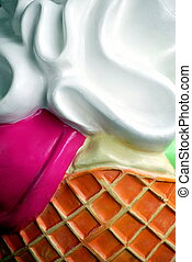 abstract., cône, glace