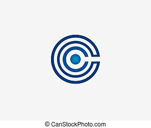 Abstract c letter logo template vector icon design.