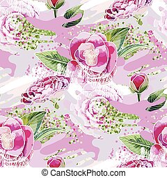 Abstract camellia pattern