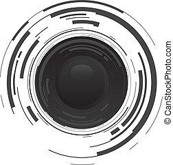 abstract camera dot