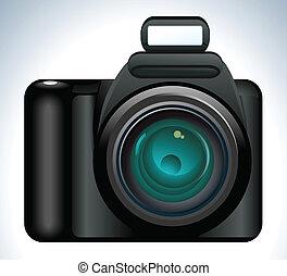 abstract camera icon vector