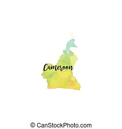 Abstract Cameroon map