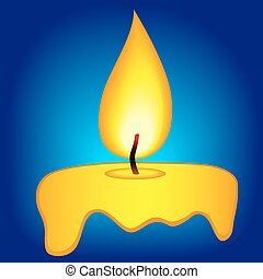 Abstract candle icon