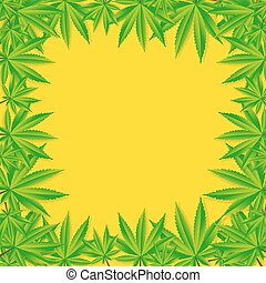 Abstract Cannabis Background Vector Illustration EPS10