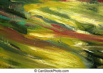 Abstract canvas back