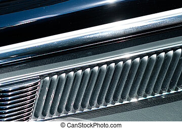 abstract car design detail - concept background steel closeup -
