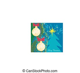 Abstract card with Christmas tree