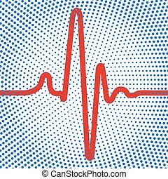 Abstract cardiogram icon