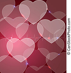 Abstract cardiology background