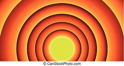 Abstract Cartoon Circles Background