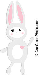 Abstract cartoon  easter card with cute bunny