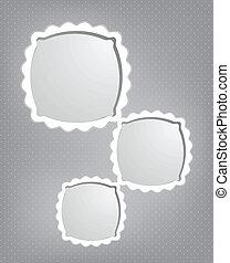 Abstract cartoon frames. Vector