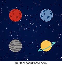Abstract Cartoon planets