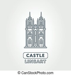 Abstract castle logo